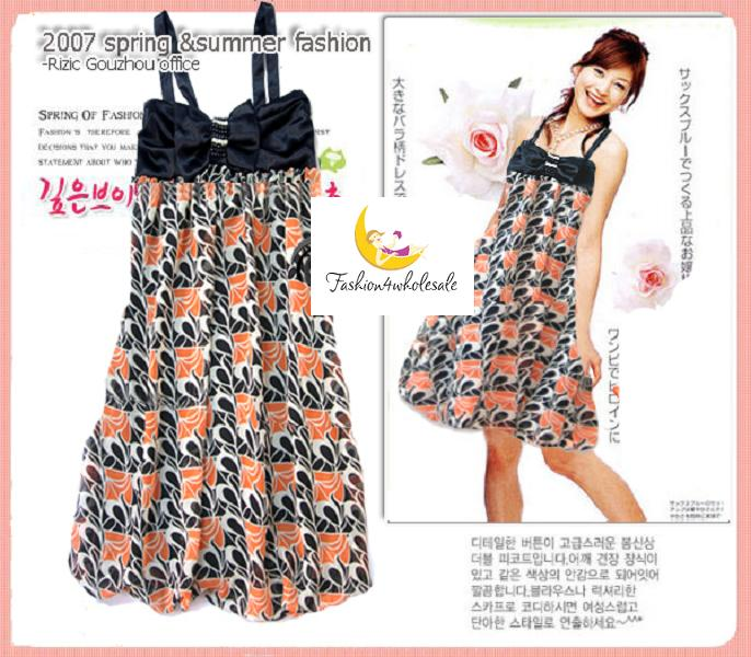 Japan Magazine Style Ladies Dress