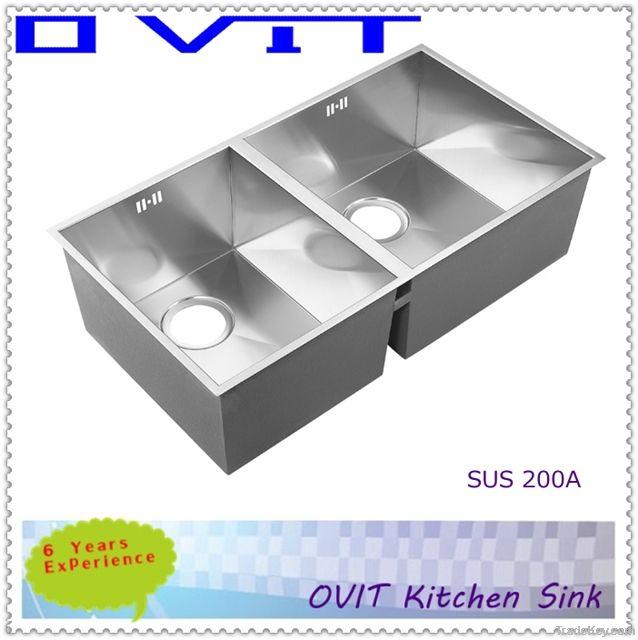 undermount porcelain kitchen sink handmade kitchen sink SUS 200A-2