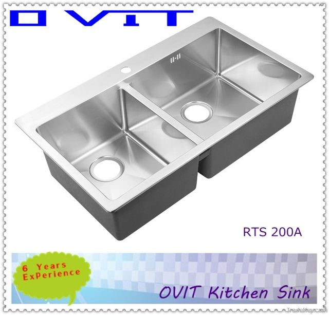 all-in-one stainless steel topmount sink RTS 200a-2