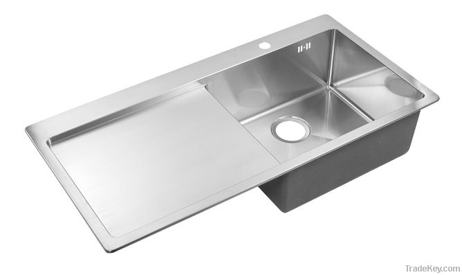 modern kitchen cabinet with drainboard sink RTS 101A-2