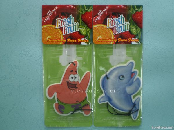 Cartoon shape paper air freshener