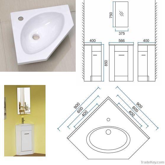 Corner resin basin 400 600 900
