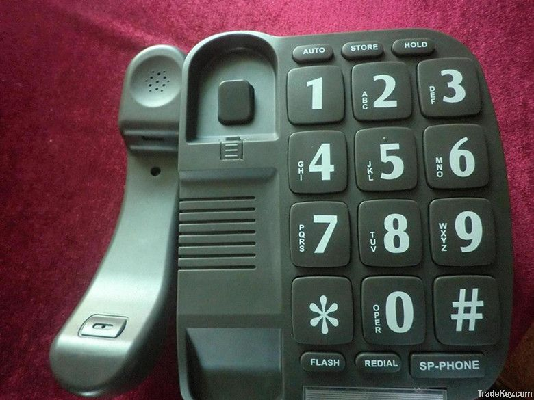 hot! cheap grey big button home telephone best gift for old people