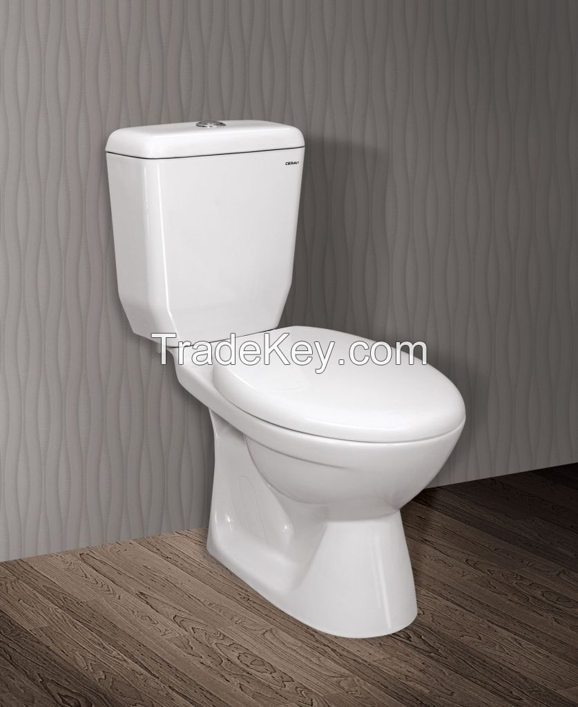 Ceramic Water Closet (2 pieces/Dual flush/Nano finished/S trap)