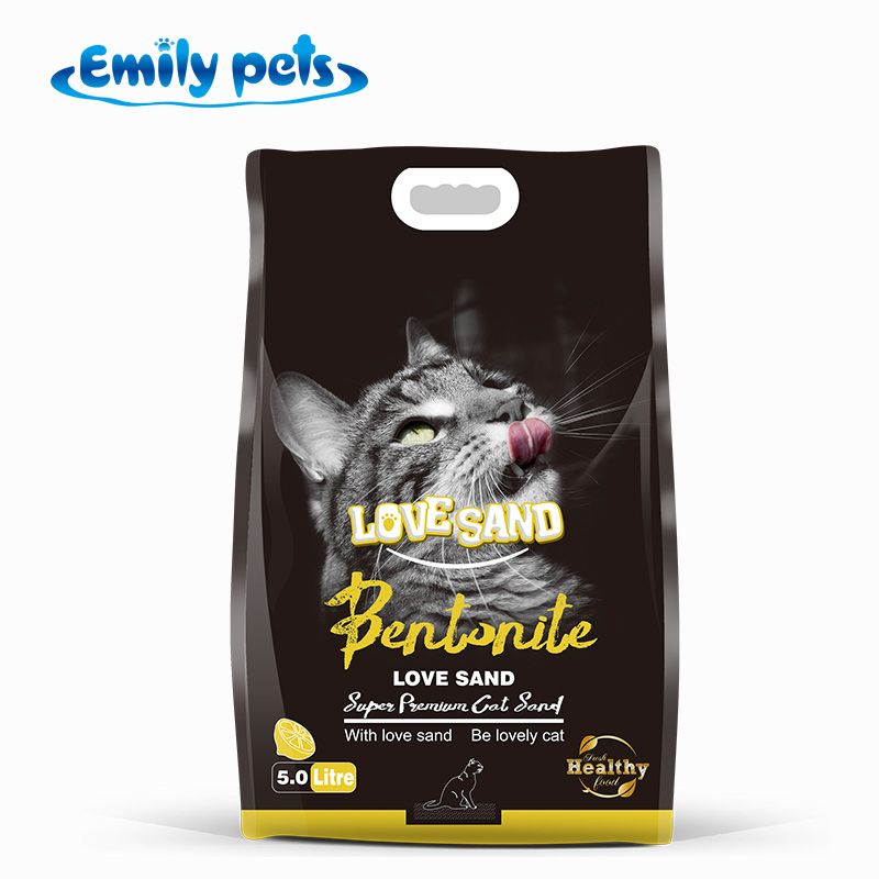 Pet cat toilet natural ball shape bentonite kitty litter free sample