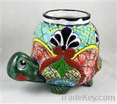 Talavera Turtle Planter