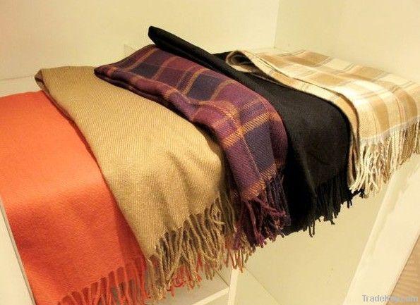 Winter wool scarf shawl