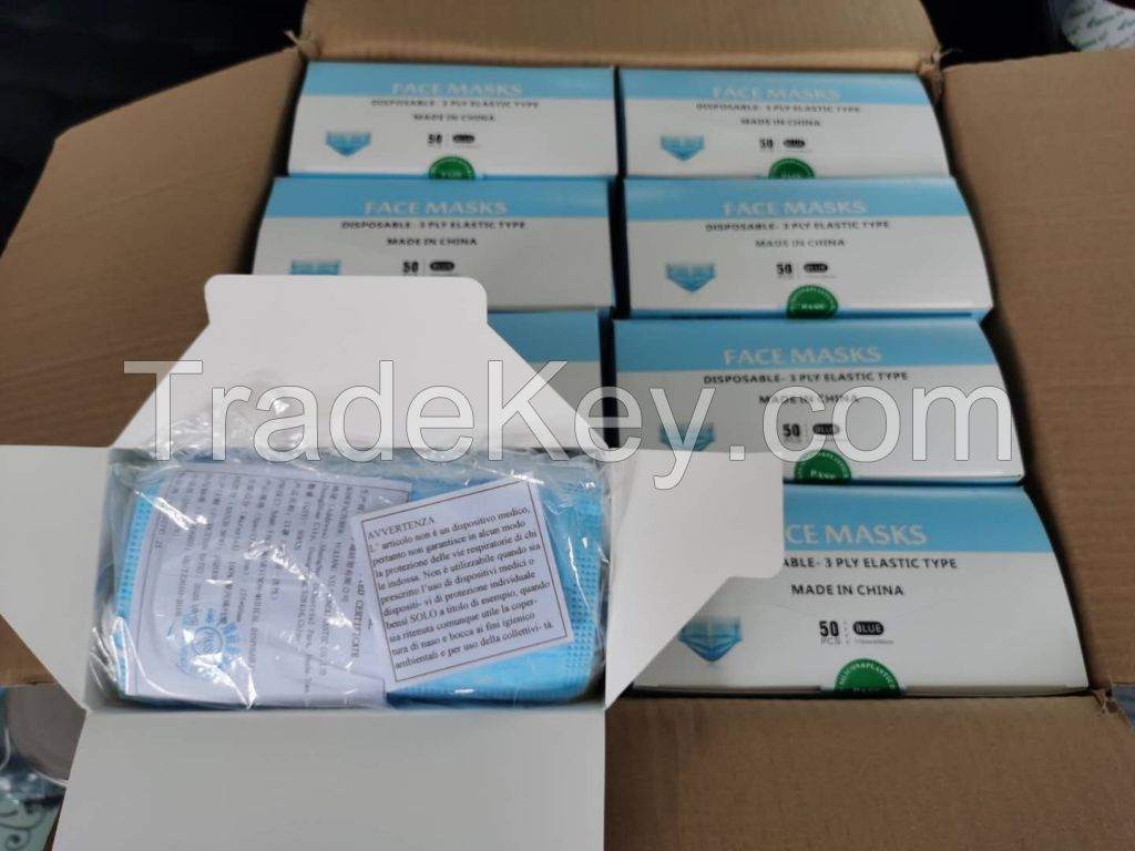3 Ply Disposable Face Mask - ASTM Level 1, GB32610
