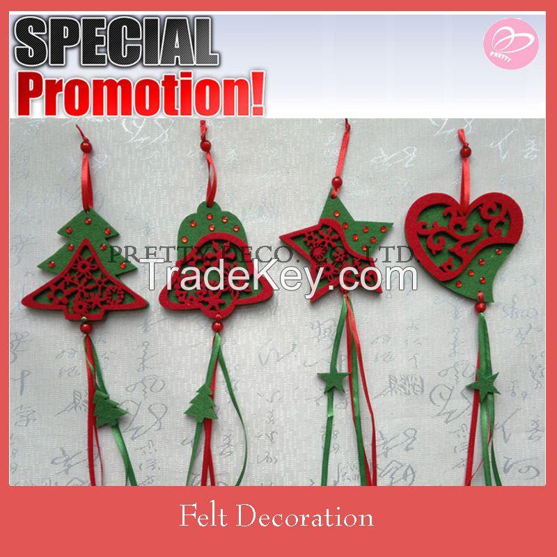 2015 New fashion felt wholesale christmas decorations