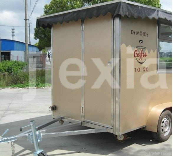 Stainless Steel Mobile Commercial Coffee Kiosk in malls
