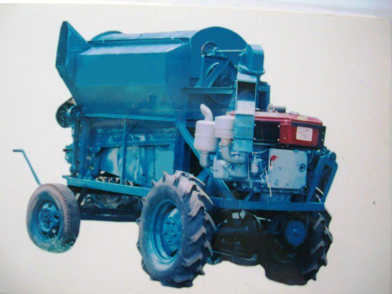 4 Wheel Rice Thresher
