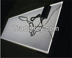 Full custom edge-lit flat led light panel with L shape aluminium profile for back lighting
