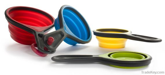 silicone foldable measuring cups