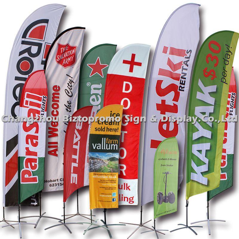 Flying banner, beach flag