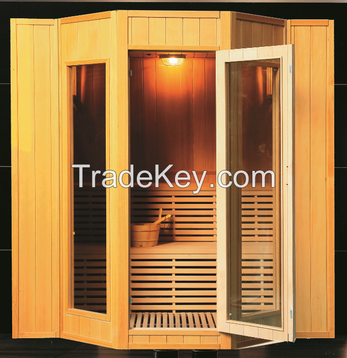 Traditional Steam Sauna 3~4persons, with HARVIA stove