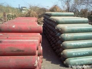 Industrial/Medical gas cylinders, CO2, Acetylene, N2, Argon