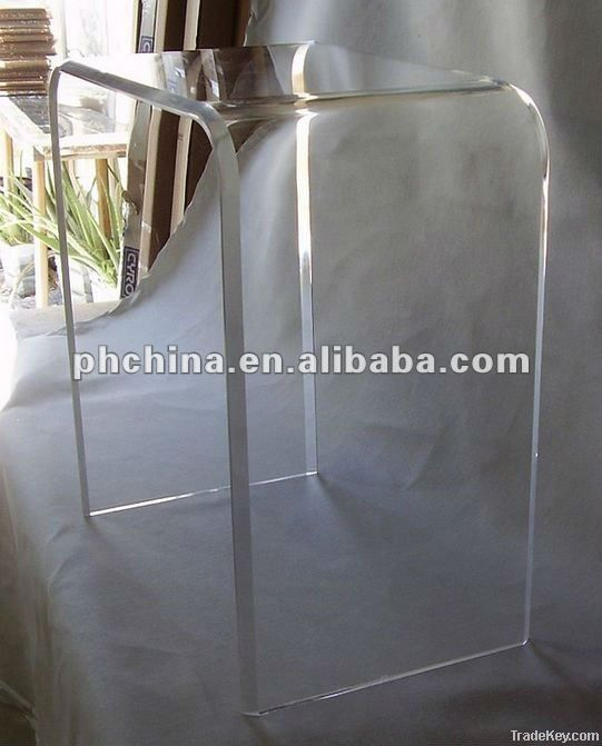 Clear Acrylic Coffee Table, Transparent Console Table, Lucite Furniture