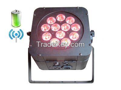 Wireless DMX 12pcs 8W 4in1 LED Par Light, Wireless DMX LED Stage light with Battery.(MP-WBQ812)