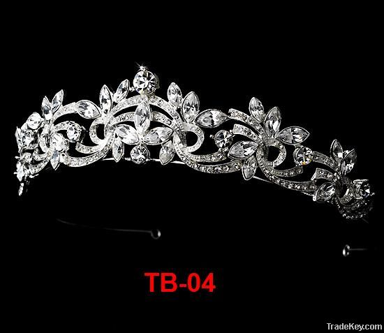 fashion elegant rhinestone alloy wedding tiara