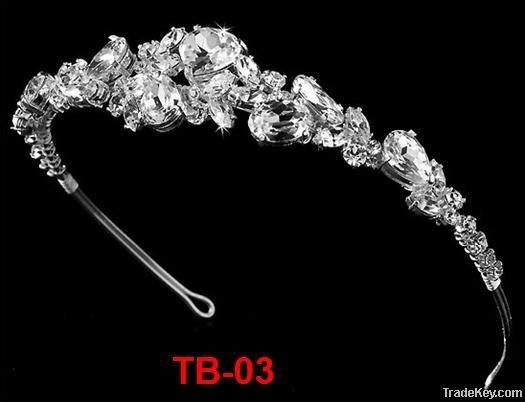 fashion elegant rhinestone alloy wedding tiara