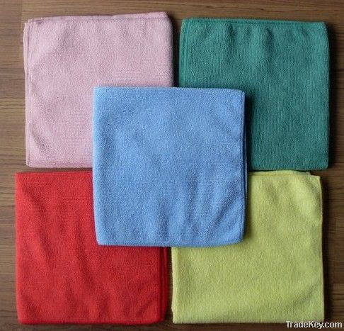 Microfiber cleaning cloth for LCD