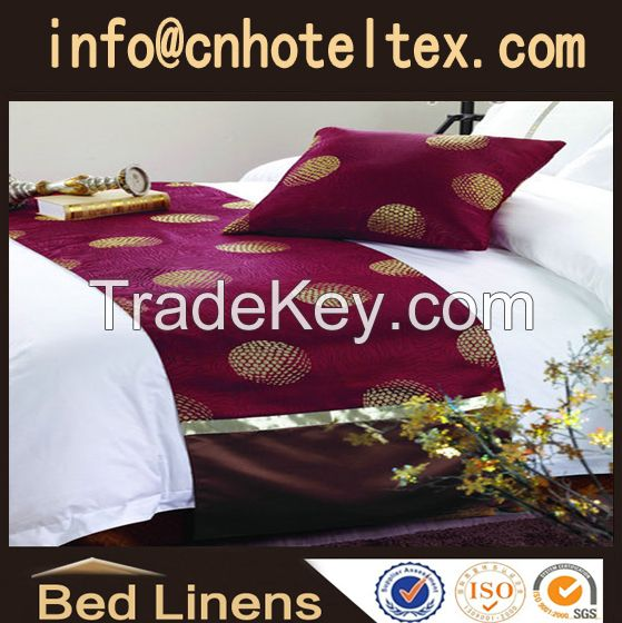 hotel bed skirt  bed scarf  bed runner
