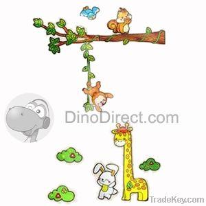 Kids Cute Rabbit Giraffe Monkey Home Decor Wall Sticker  paper