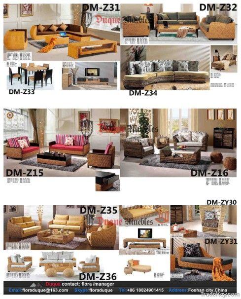 natural rattan and wood indoor furniture