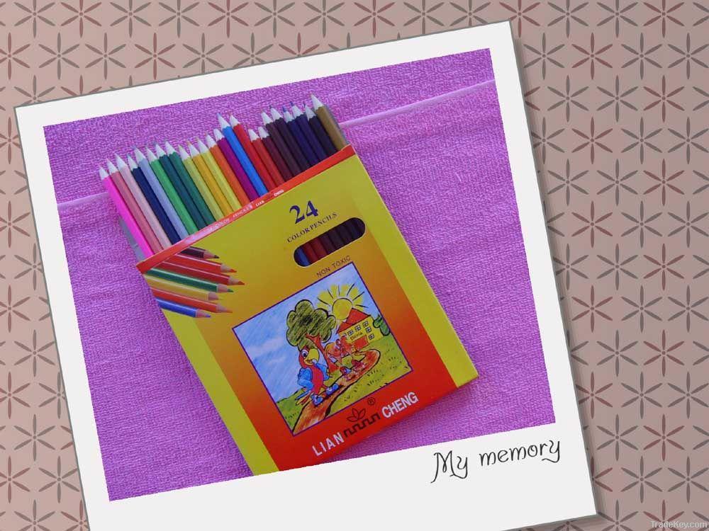 24pcs colour pencil set drawing pencil wood