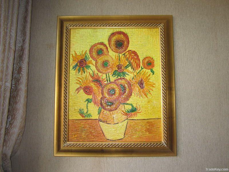 Handpainted oil painting Vincent Sunflower