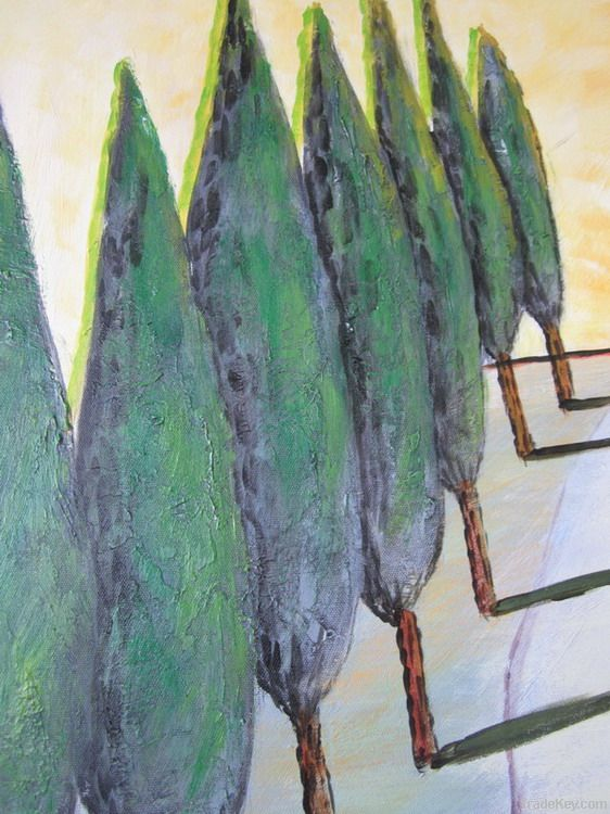 Handpainted Acrylic Painting Trees