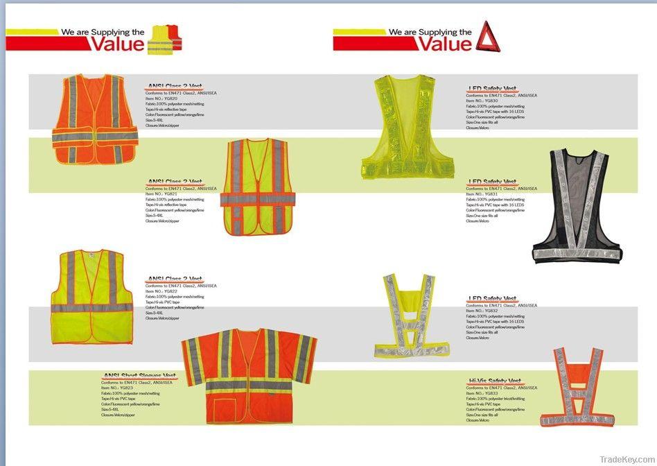 ANSI Class 2  Safety Vest 100% Polyester Mesh/netting