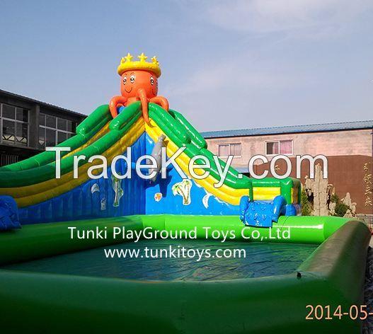 water park aqua sport park inflatable iceberg  inflatable trampoline