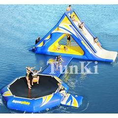 water park inflatable aqua slide pool