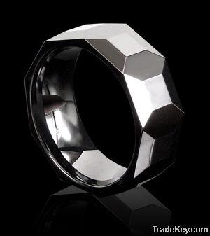 White ceramic ring jewelry Polished shiny