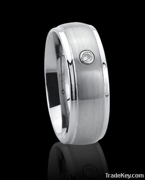 New style and high quality tungsten rings with cz stones