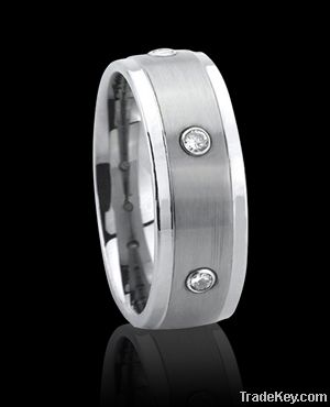 Tungsten Ring with cz stone, 2012 best tungsten wedding bands
