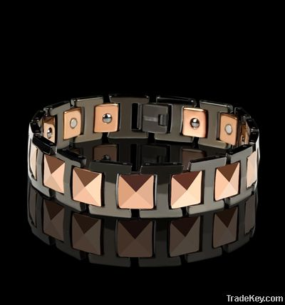 4 elements mens magnetic tungsten bracelets