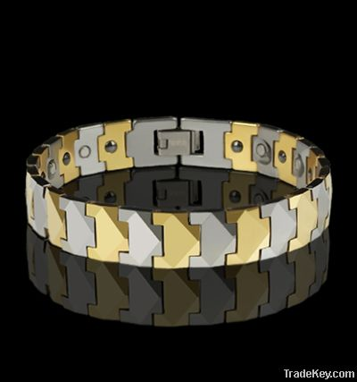 New Tungsten Carbide Bracelets Magnetic Multi-Faceted  Bangle