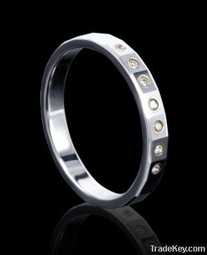 hot sell black tungsten unreal diamond ring