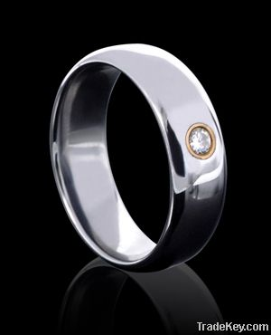 Wedding Band Tungsten Ring Channel Diamond Inlaid New Style