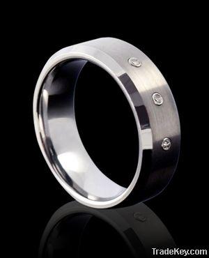 CZ tungsten carbide rings