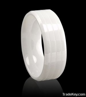 Channel fashion ceramic rings