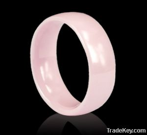 2013 Newest wholesale fashion women ceramic ring pink