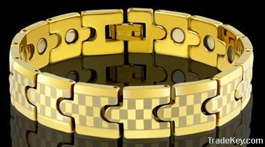 Gold Plating Tungsten Men Bracelet, Hot sell tungsten bracelet