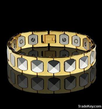 Men 18K gold Magnetic tungsten bracelets