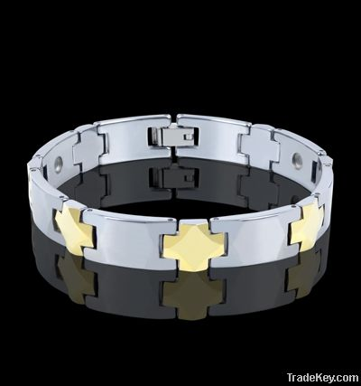 Gold Plated Tungsten Bracelets Men, Tungsten Bracelet with Germanium