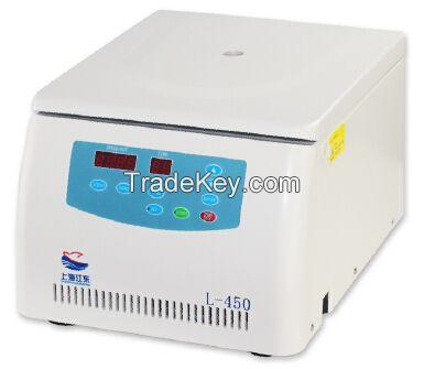 L-450 Benchtop Medical Lab Centrifuge Laboratory Centrifuge Brushless Motor LED Display 4500rpm CE 24 x 10ml