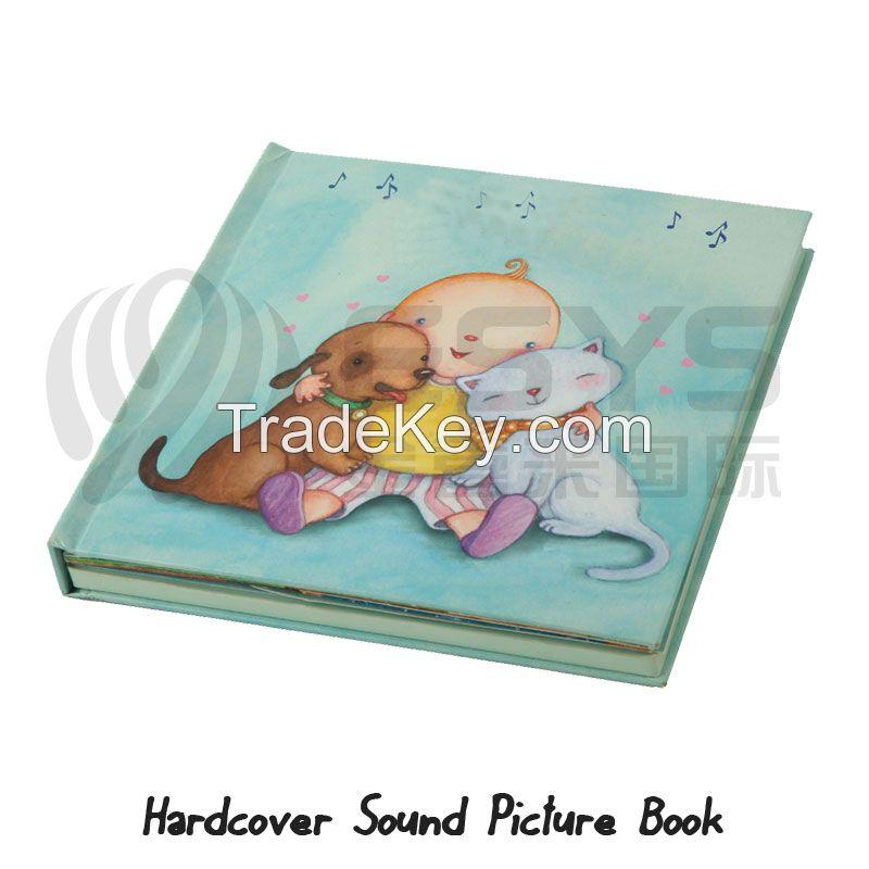 Sound module panel for books