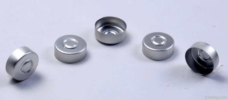 plastic and aluminum caps